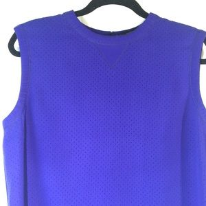 Marc Jacobs Cobalt Blue Perforated Sleeveless Top